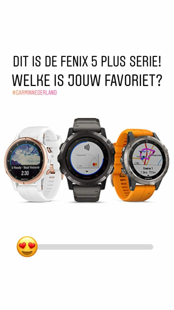 Instagram stories Garmin Nederland