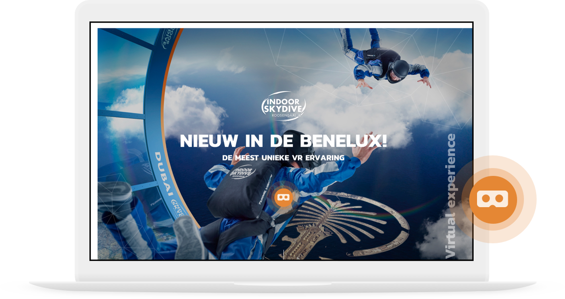 Indoor-skydive-roosendaal-VR-laptop pulse button