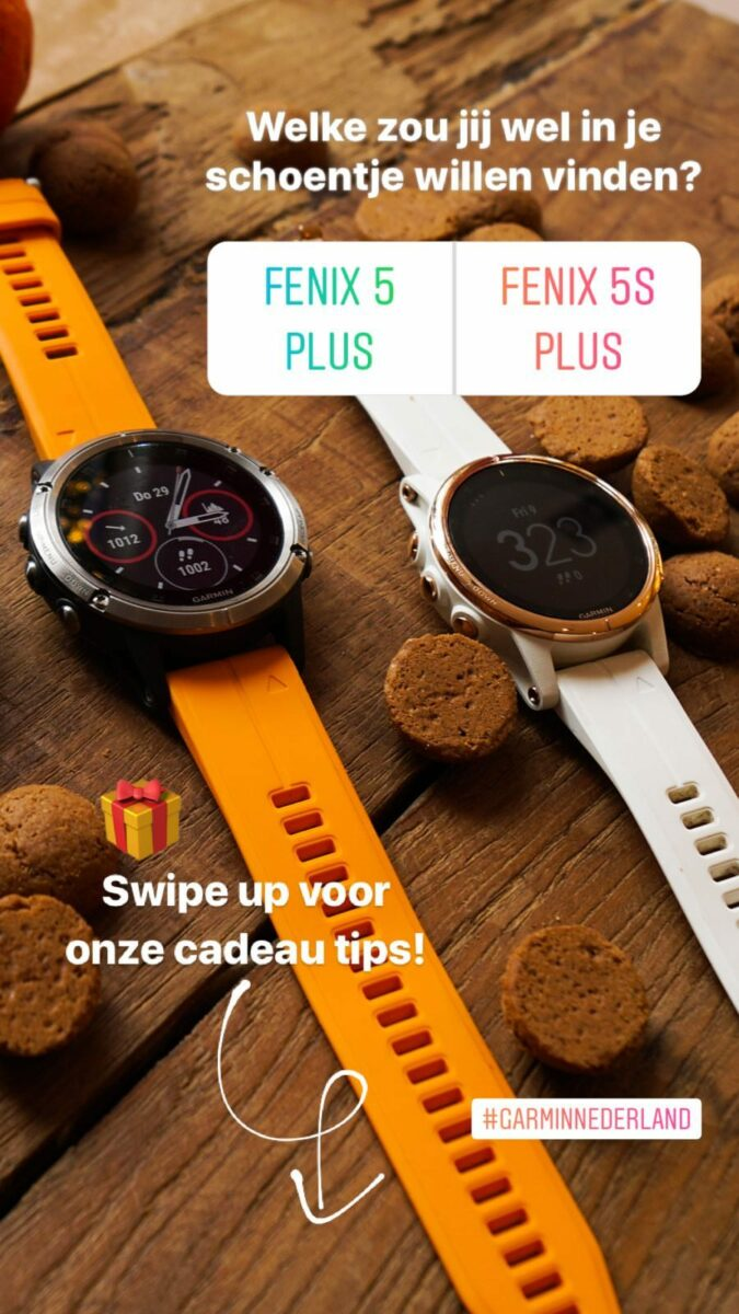 Garmin Nederland Instagram stories