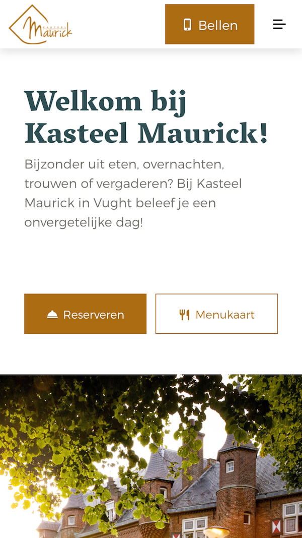 Kasteel Maurick mobile hero