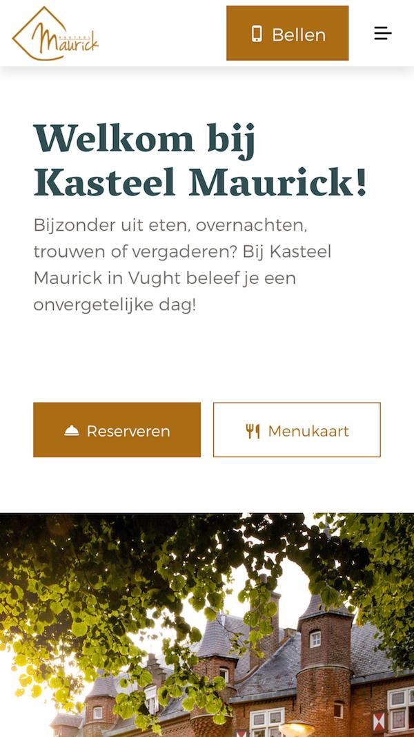Kasteel Maurick mobile hero