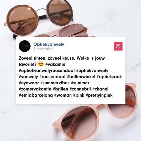 Optiek van Wely social media posts