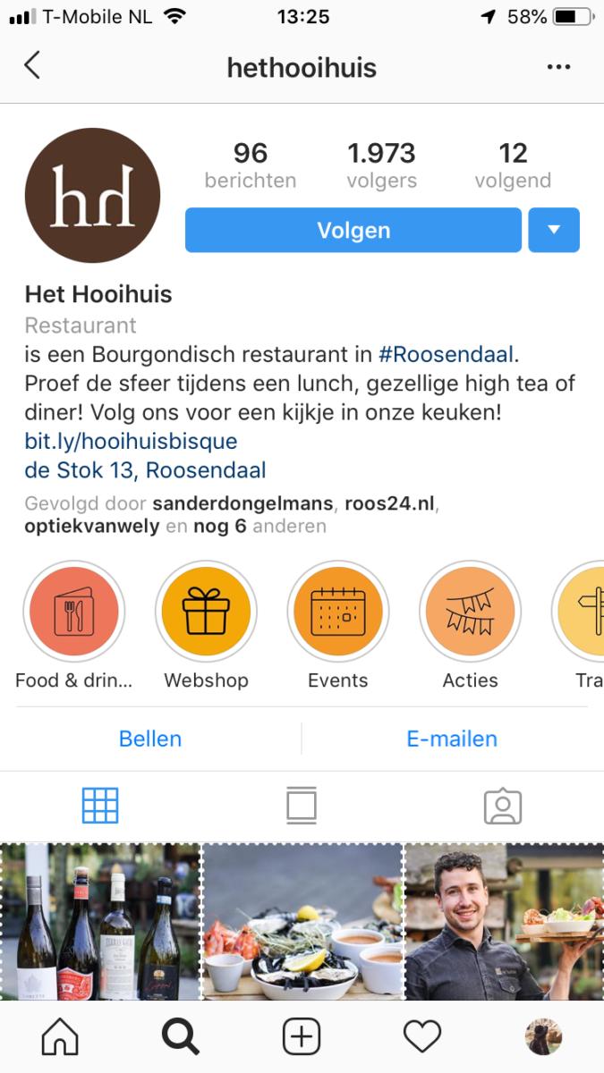 Hooihuis Instagram strategie profiel