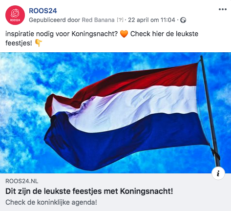 ROOS24 social media planning Koningsdag