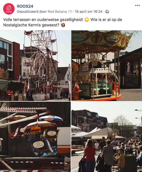 ROOS24 social media planning Nostalgische Kermis