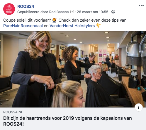 ROOS24 social media planning haartrends 2019