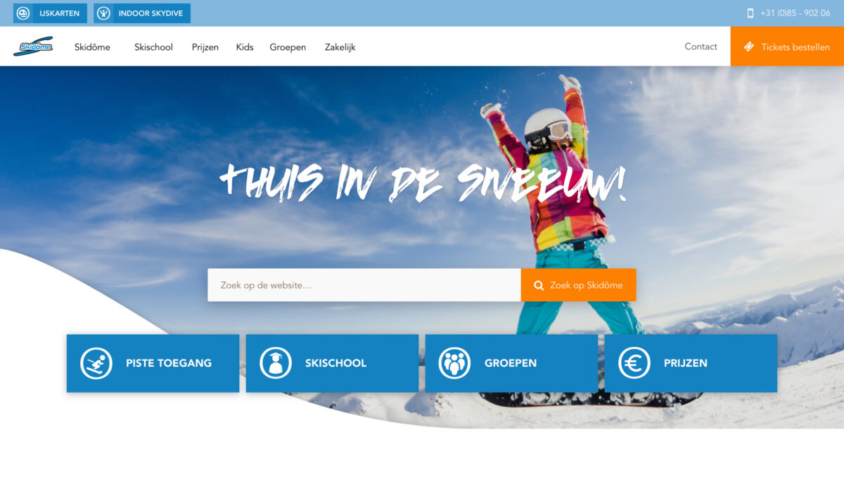 Skidome-webdesign-hero-red-banana