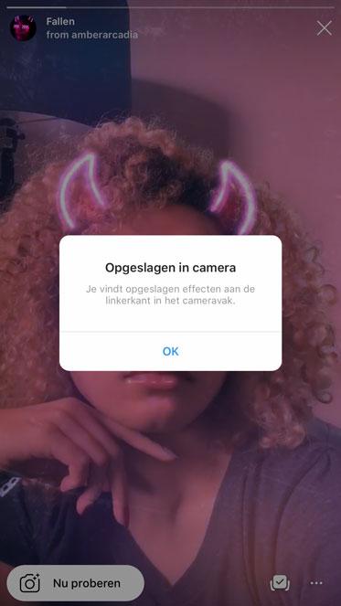 AR filter toevoegen aan je Instagram stories filters