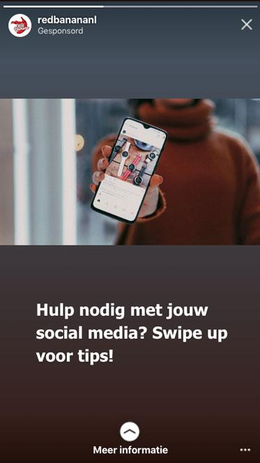 Geen goede Instagram story advertentie