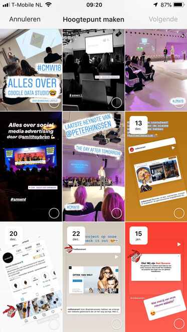 Archief om Instagram story highlights te maken