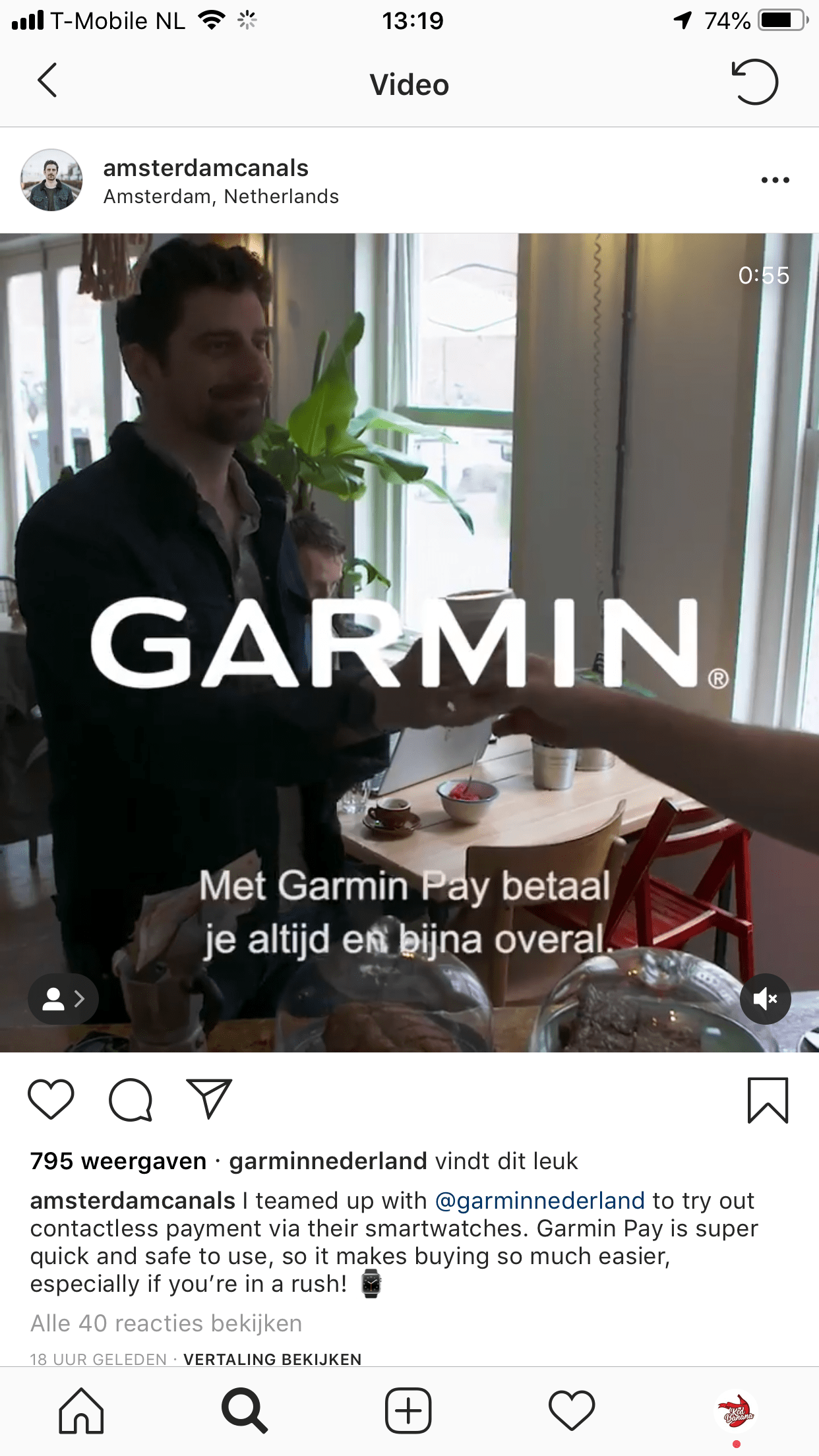 Influencer marketing Garmin Pay