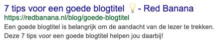 goede blogtitel voorbeeld google
