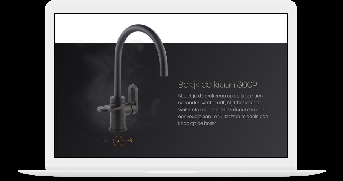 Hotspot Titanium webshop met 360 view van kraan