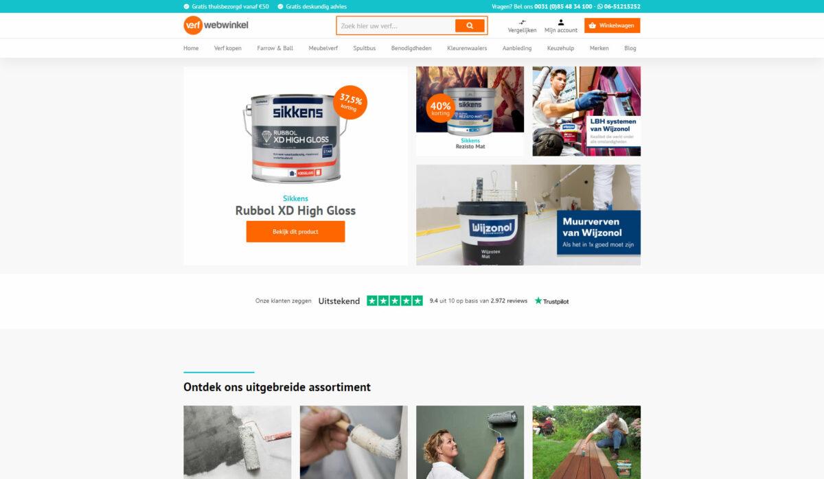 Home Verfwebwinkel op desktop