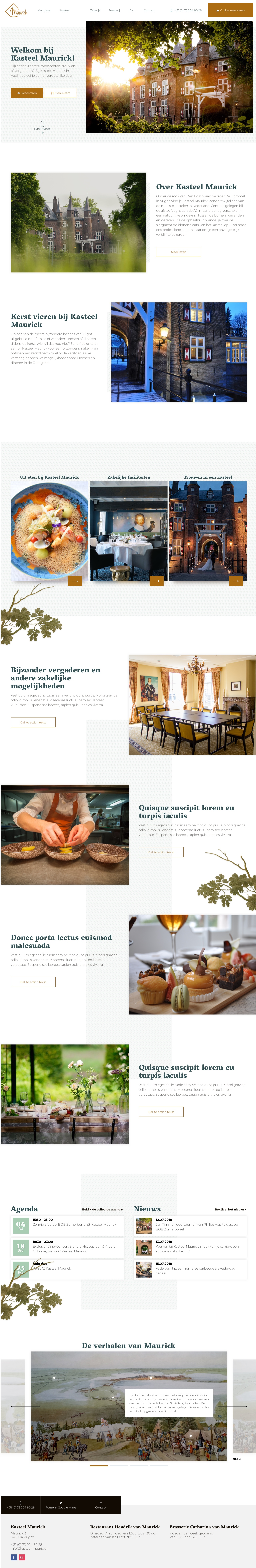 Bekijk de website van Kasteel Maurick