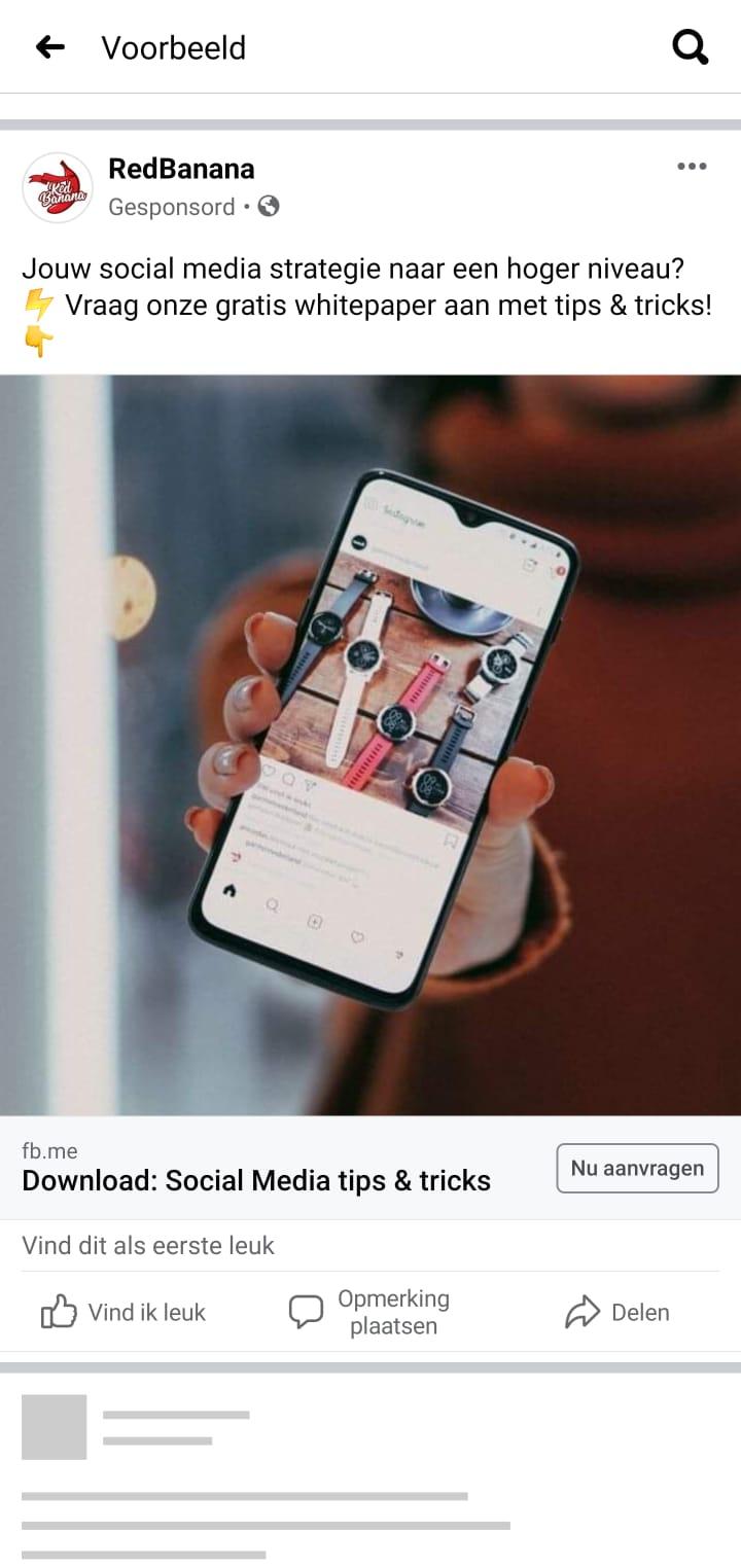 Leads genereren facebook leadadvertenties