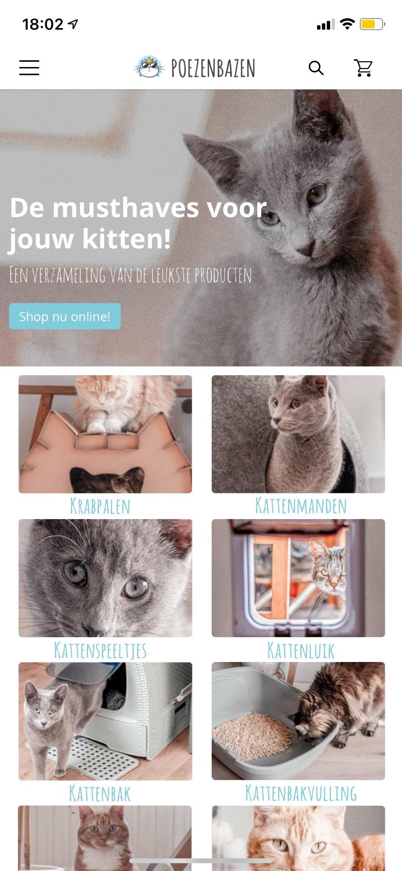 Poezenbazen app home